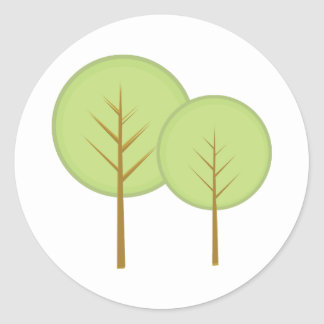 Round Trees Round Sticker