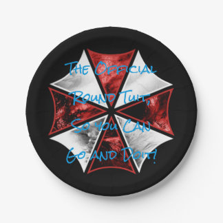 """Round Tuit - Custom Paper Plates 7"""" 7 Inch Paper Plate"""