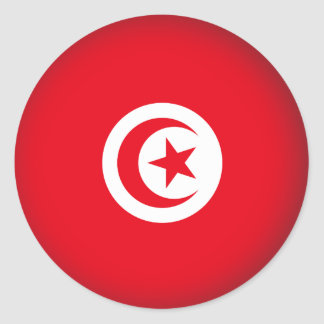Round Tunisia Classic Round Sticker