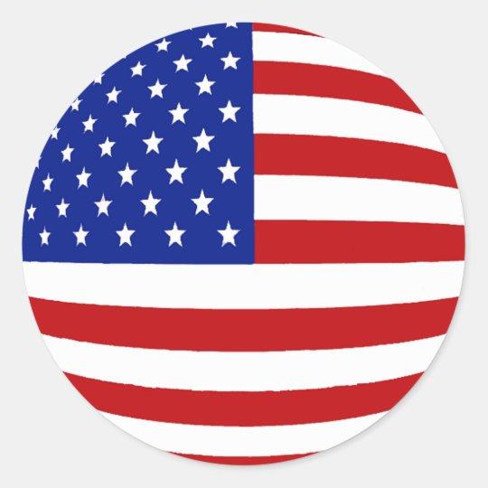 round us flag classic round sticker zazzlecomau