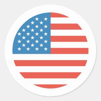 Round USA flag for Patriotic events Classic Round Sticker
