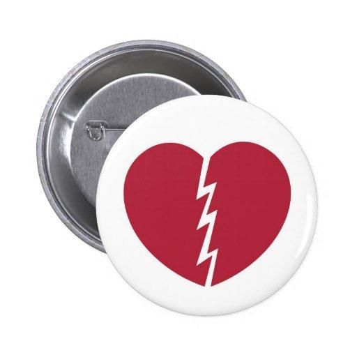 Round Valentine Break-Up Button © 2012 M. Martz