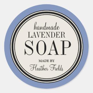 Round Vintage Label Frame Lavender Soap Template