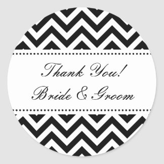 Round Wedding thank you stickers | envelope sealer