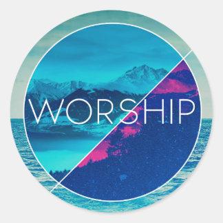 Round Worship Stickers (3 in.)