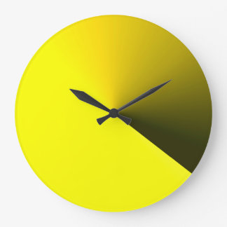 Round Yellow Wall Clock for Home Decorations
