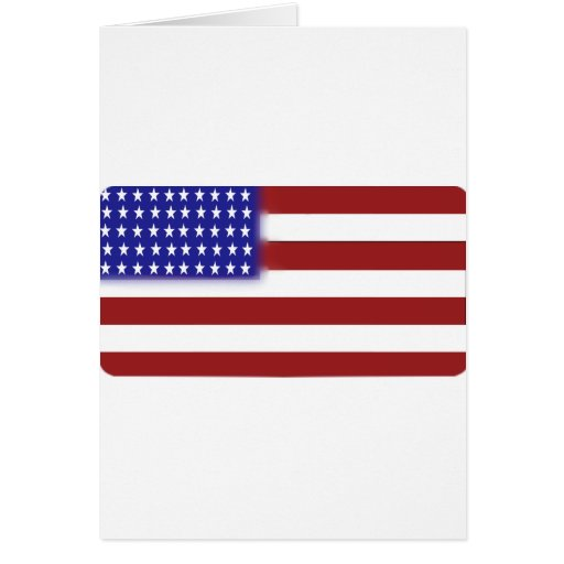 Rounded American Flag Cards
