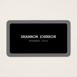 Rounded Black and Grey Minimal Modern Business Card