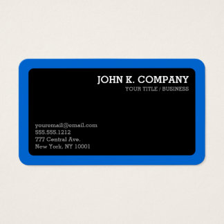 Rounded Blue Border Black Minimal Professional
