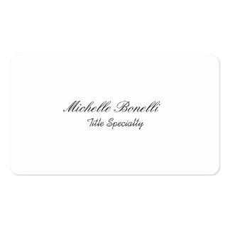 Rounded Corner Classy Stylish Script Business Card
