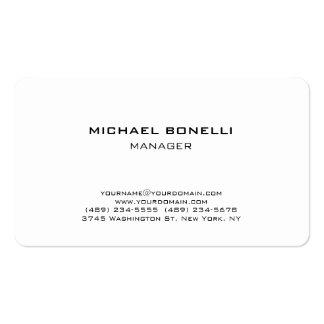 Rounded corner plain white stylish business card