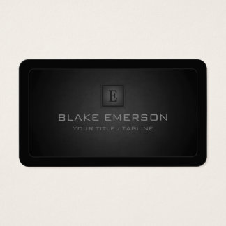 Rounded Corners Dark Professional Monogram