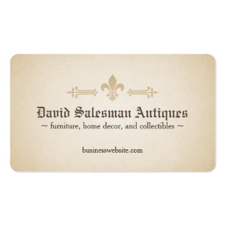Rounded Corners Fleur-de-lis Vintage Look Pack Of Standard Business Cards