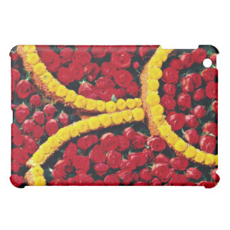 Rounded drops of red roses and yellow flowers flo iPad mini covers