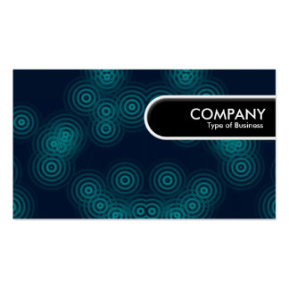 Rounded Edge Tag - Electric Rain Pack Of Standard Business Cards
