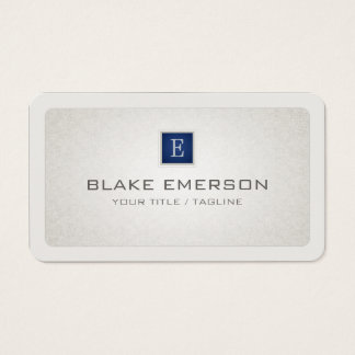 Rounded Professional Custom Monogram Blue Accent