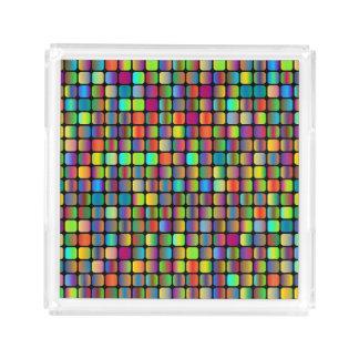 Rounded Squares Acrylic Tray