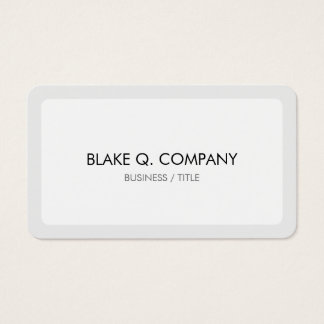 Rounded White and Light Grey Border Minimal Business Card
