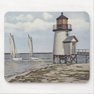 Rounding Brant Point Lighthouse Nantucket Mouse Pad