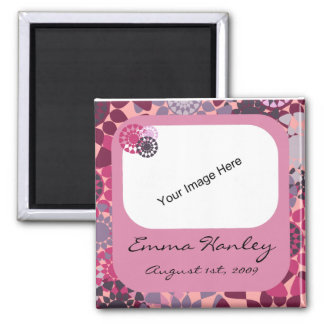 Rounds Birth Announcement Square Magnet