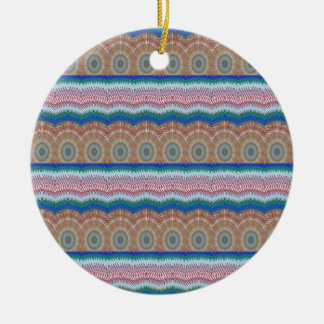 ROUNDS Chakra Blue SPARKLE Strip Elegant GIFTS Christmas Ornaments