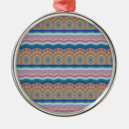 ROUNDS Chakra Blue SPARKLE Strip Elegant GIFTS Christmas Ornament