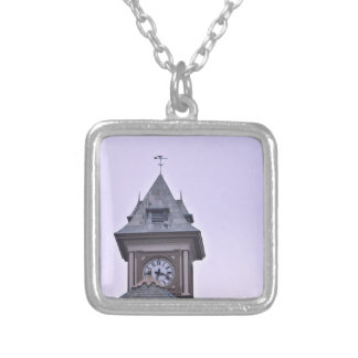 Rouss City Hall at Twilight Silver Plated Necklace