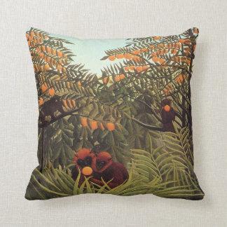Rousseau - Apes in the Orange Grove Cushion