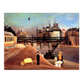 Rousseau - Ile Saint Louis and Notre Dame Postcard