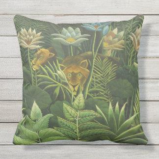 Rousseau Jungle Tropical Lion Art Print Painting Cushion