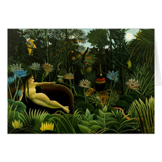 """Rousseau's """"The Dream"""" greeting card"""
