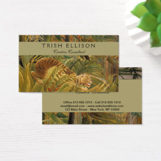 Rousseau Template Tropical Tiger Art Print Custom Business Card