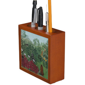 Rousseau Tropical Forest with Monkeys Pen Holder