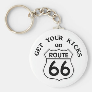 route66 basic round button key ring