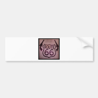 Route 66, 2 Guns, Arizona Bumper Sticker