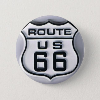 Route 66 3-D looking 6 Cm Round Badge