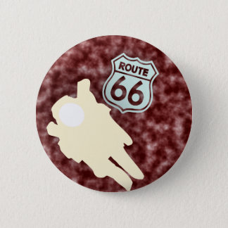 ROUTE 66 6 CM ROUND BADGE