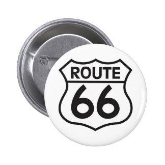 Route 66 6 cm round badge