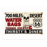 Route 66 - 700 miles desert roadside sign postcard