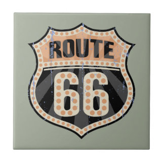 Route 66 -717 Dot Small Square Tile
