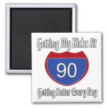 Route 66 90th Birthday Refrigerator Magnets