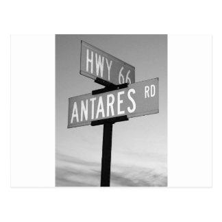 Route 66 and Antares Road Kingman AZ Postcard