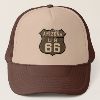 Route 66 Arizona US Design Sepia Trucker's Hat