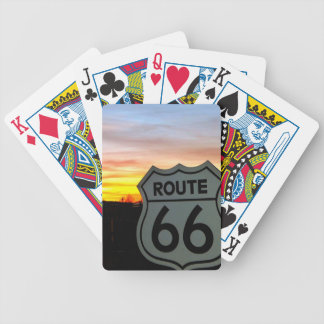 Route 66 at Sunset Bicycle Playing Cards