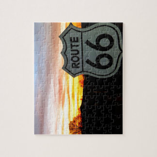 Route 66 at Sunset Jigsaw Puzzle