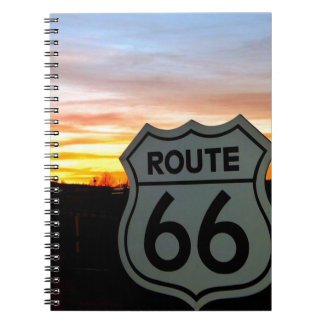 Route 66 at Sunset Notebooks