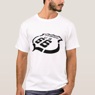 Route 66 Black Stamp T-Shirt