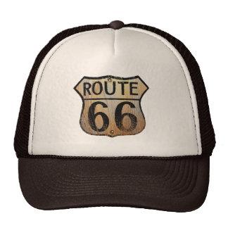 Route 66 - Black & Tan Trucker Hat