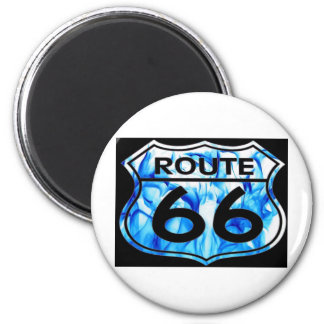 route 66 blue fire magnet