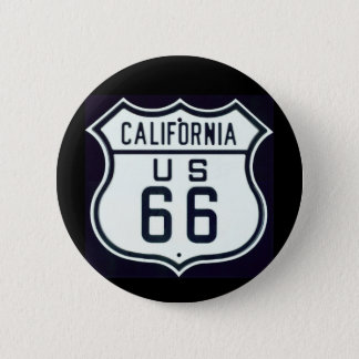 Route 66 California 6 Cm Round Badge